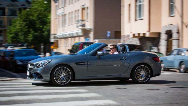 Koeajo: muotovalio ja pippurinen pikkuavo – Mercedes-Benz SLC 300 A