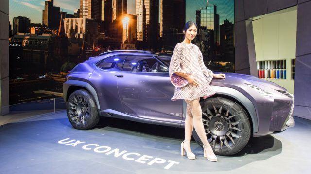 Pariisin konseptikattaus Lexus UX Concept