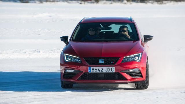 Cupra ja Kankkunen jääradalla Kuusamo Seat 4drive