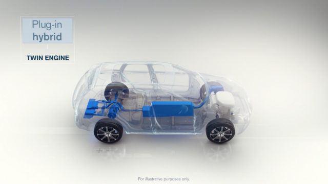 Volvo lisää sähkön kaikkiin uusiin malleihin 2019