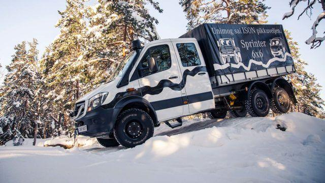 Koeajo: kiipeilee kuin lumivuohi - Mercedes-Benz Sprinter 6x6 Oberaigner