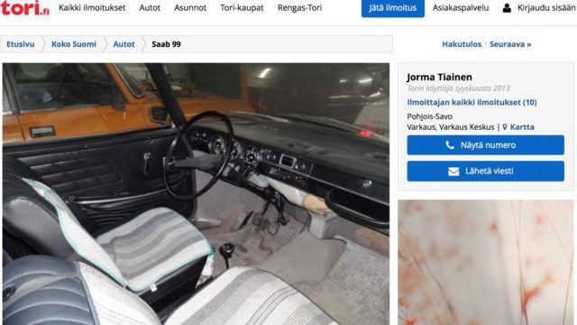 Saab 99 Tori.fi sisusta