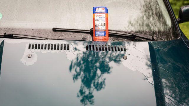Sonax Wash&Seal veden poistuminen