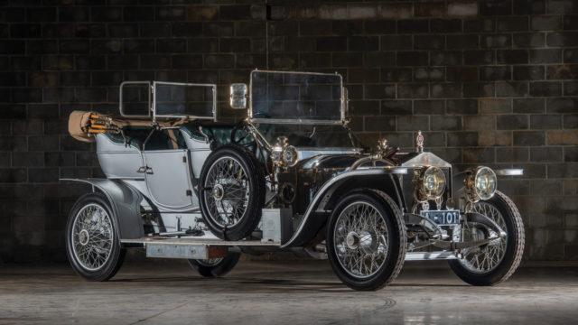 1909 Rolls-Royce 40/50 HP Silver Ghost Roi-des-Belges edestä