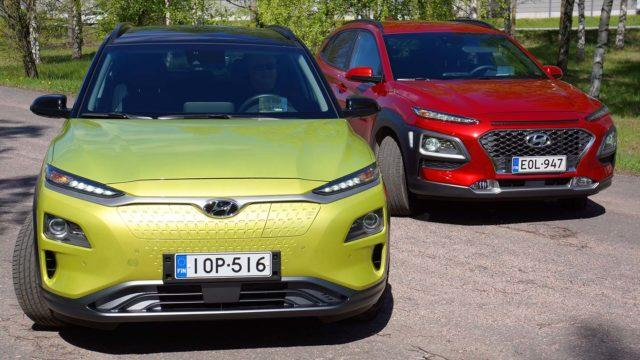 Parivertailu Hyundai Kona Electric vs 1.6 T-GDI