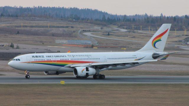 Ensimmäinen kiinalainen lentoyhtiö Helsinkiin Tibet Airlines