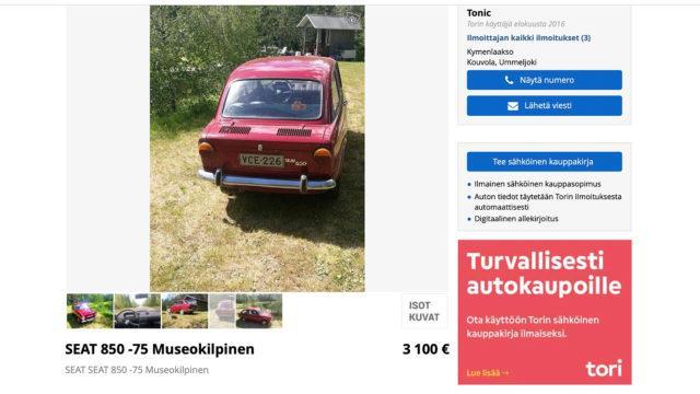 Seat 850 Pysty - Tori.fi