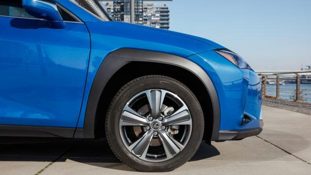 Lexus UX 300e wheel arch
