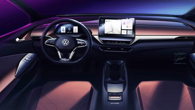 Volkswagen ID.4 interior sketch