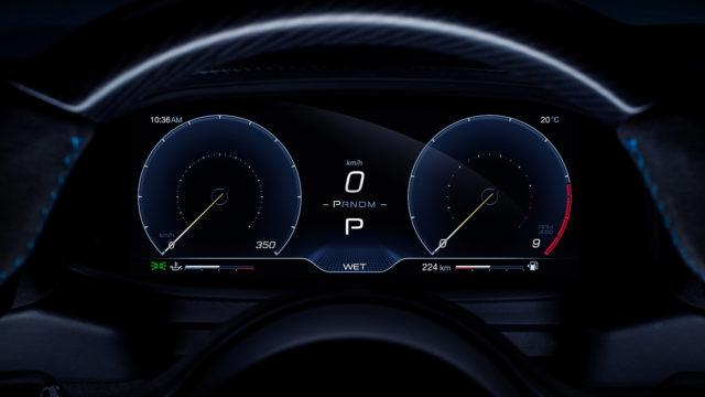 Maserati MC20 gauges