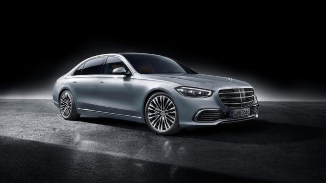 Mercedes-Benz S-Class, 2020, studio shot, exterior: hightech silver front