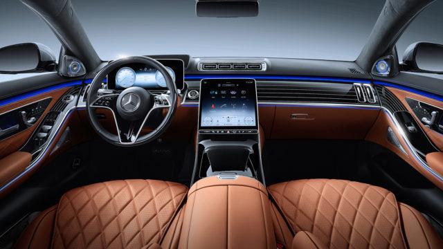 Mercedes-Benz S-Class, 2020, studio shot, interior: leather siena brown