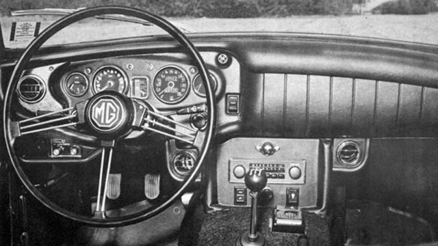 MG B interior