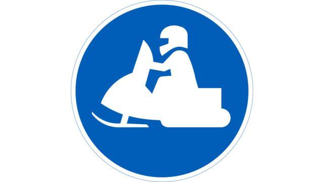 Moottorikelkkailureitti – liikennemerkki