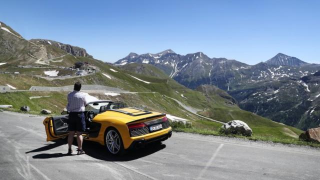 Grossglockner Itävalta avoauto matkailu automatka roadtrip tie automatkailu