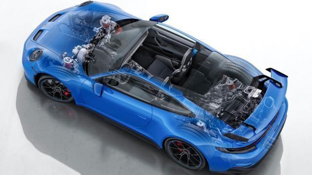 Porsche 911 GT3 (992) leikkauskuva – Porsche GT3 300km/h 5000 kilometriä putkeen