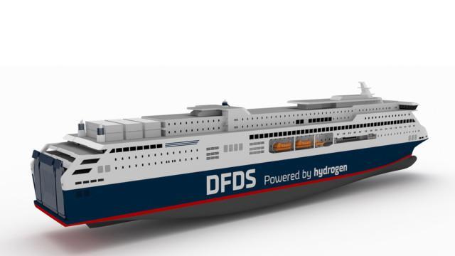 DFDS Europa Seaways vety polttokenno vetykäyttöinen matkustaja-autolautta
