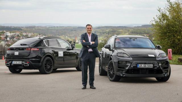 Porsche Macan EV & Dr. Michael Steiner, Member of the Executive Board, Research and Development, at Porsche AG