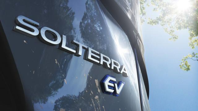 Subaru Soltrerra EV logo teaser