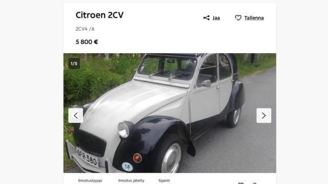 käytetty kesäauto Citroën 2CV rättäri rättisitikka